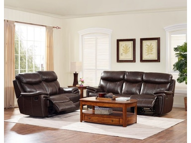 Conner Leather Power Reclining Sofa and Loveseat