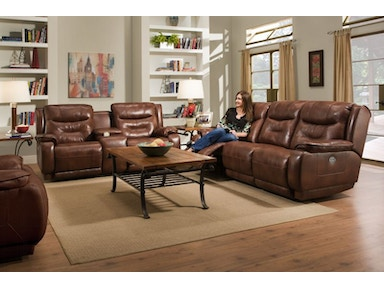 Crescent Power Reclining Sofa and Loveseat