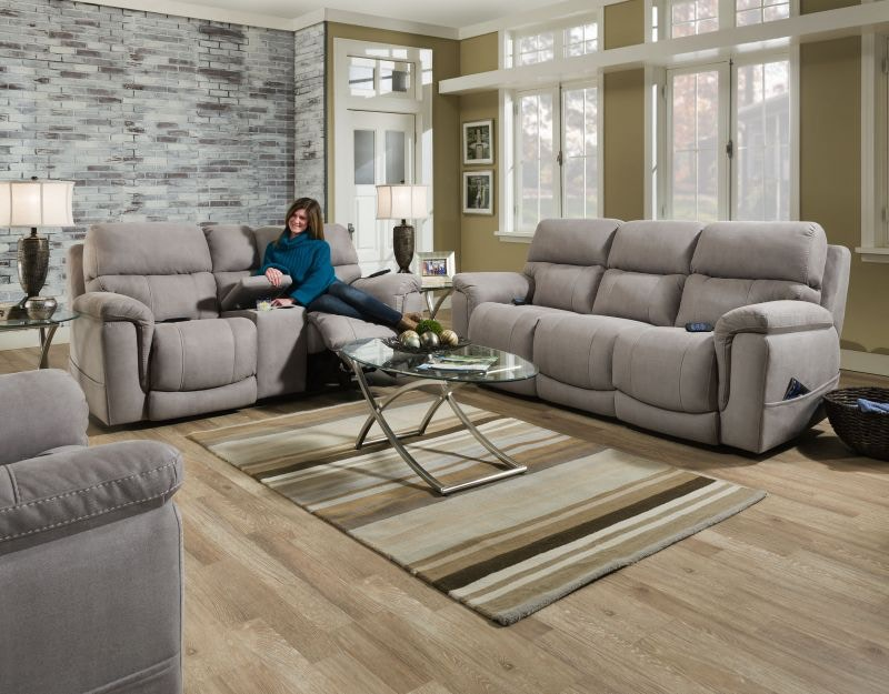 Elston Power Headrest And Lumbar Sofa And Loveseat