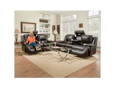 Excalibur Leather Power Headrest Sofa and Loveseat