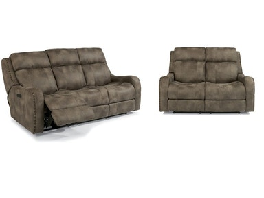 Field Power Reclining Sofa and Loveseat