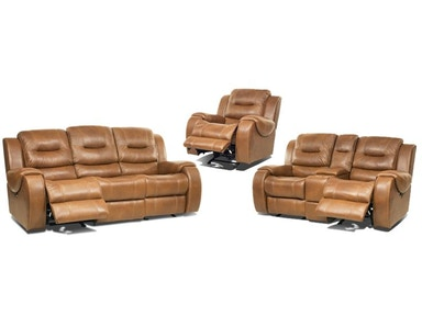 Gary Leather Power Reclining Set Recliner FREE