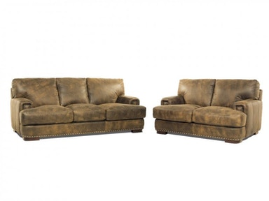 Gaucho Leather Sofa and Loveseat