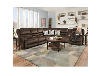 Grandslam Power Reclining Sectional, 55&#34 TV FREE