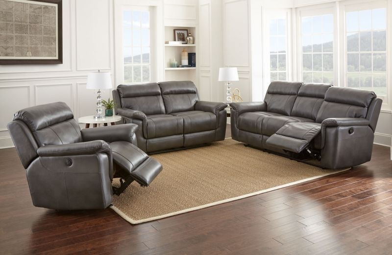Steve Silver Living Room Malone Grey Reclining Sofa Loveseat And  ~ Reclining Sofa And Loveseat