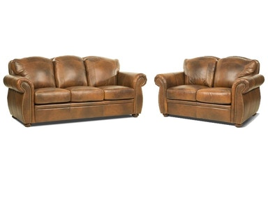 Marco Leather Sofa and Loveseat
