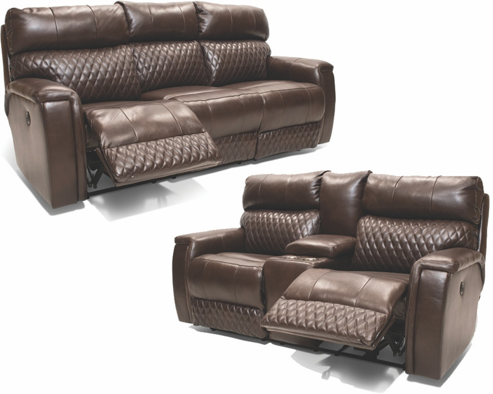 Megalodon Leather Power Reclining Sofa, Loveseat