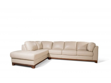 Morgan Leather Sectional 55&#34 TV FREE