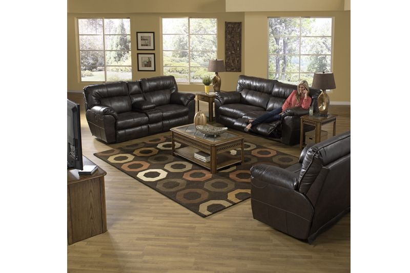 Catnapper Living Room Nolan Reclining Sofa Loveseat and