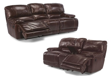Ross Power Reclining Leather Sofa and Loveseat