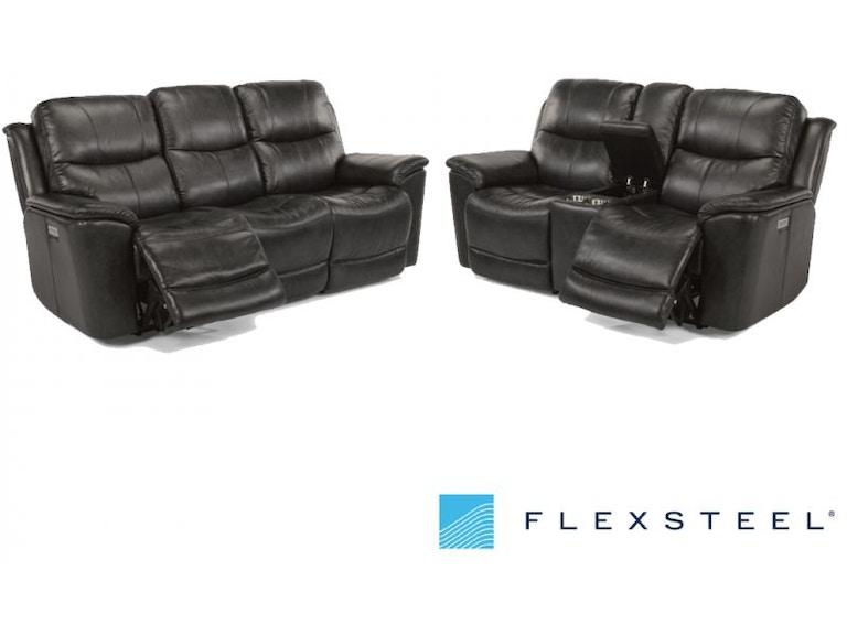 Flexsteel Ryan Power Lumbar And Headrest Reclining Set