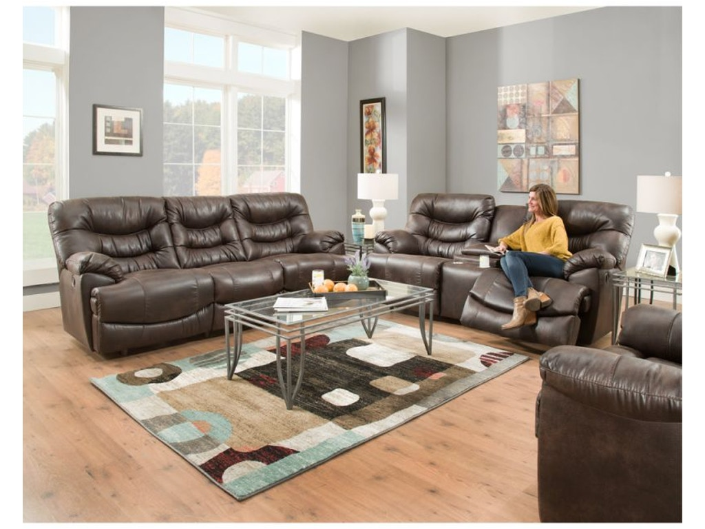 Franklin Living Room Touchdown Reclining Sofa And Loveseat