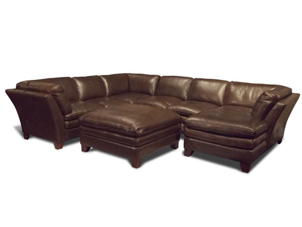 Futura Living Room Anaheim Right Chaise Sectional Ottoman Free