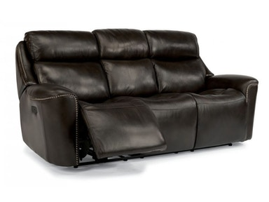 McShane Grey Power Reclining Sofa and Recliner