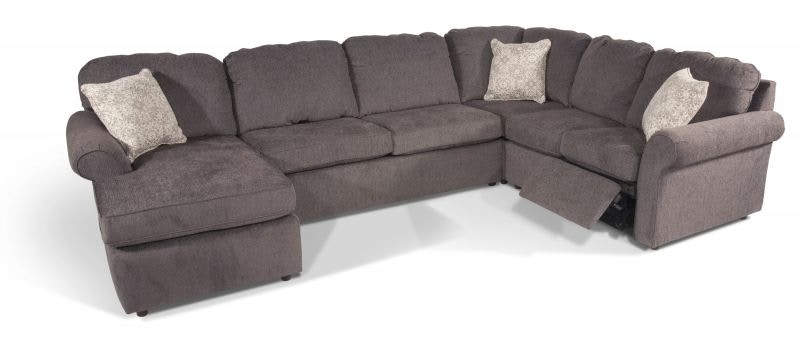 Myer Reclining Sectional with Storage Ottoman