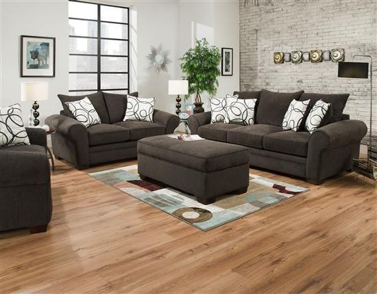 Corinthian Living Room Othello Sofa Chair And Ottoman
