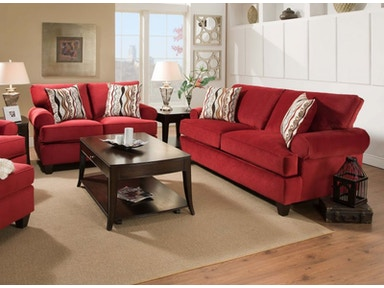 Red Jackpot Sofa and Loveseat, 32&#34 TV Free