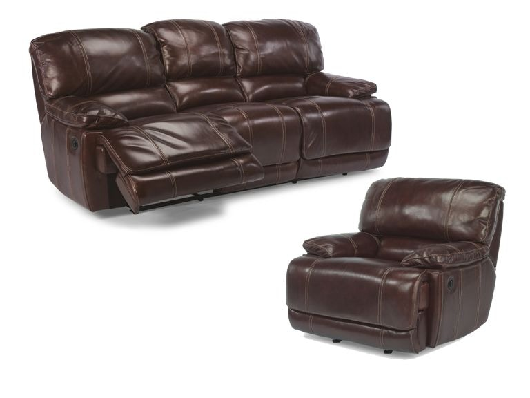 ross power reclining leather sofa and recliner