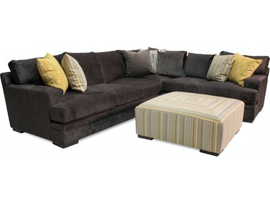 Samantha Left Side Sectional Tail Ottoman Free