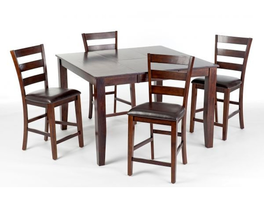 Craft Designs Dining Room Kona Pub Table with 4 Chairs, 2 Pub ...