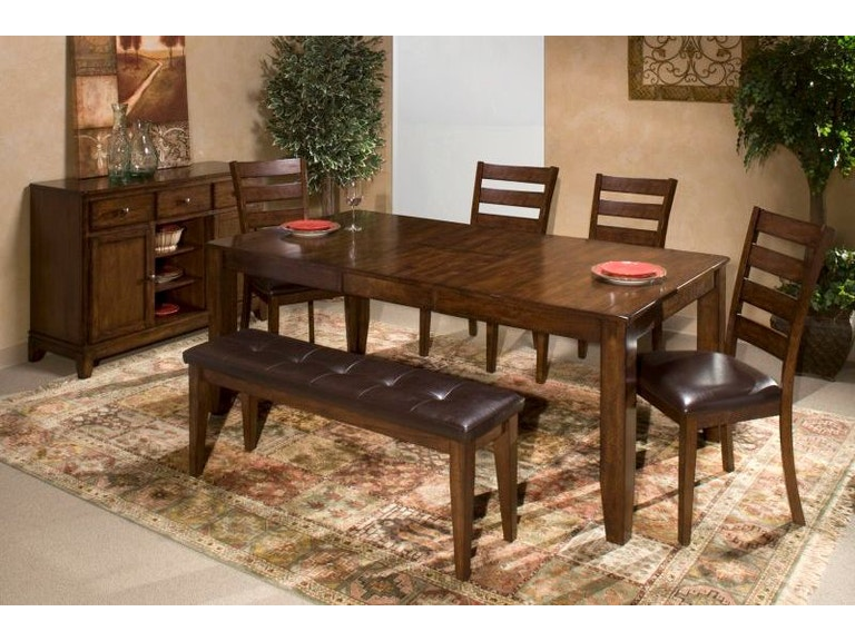 Craft Designs Dining Room Kona Dining Table with 4 Chairs, Bench FREE