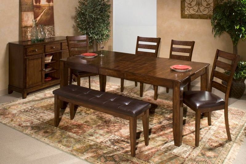 Craft Designs Kona Dining Table With 4 Chairs, Bench Free 9864