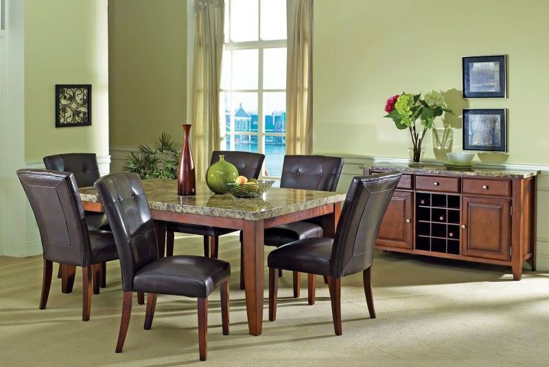 Steve Silver Dining Room Montibello Dining Table and Four Side