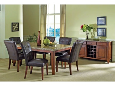Montibello Dining Table and Four Side Chairs