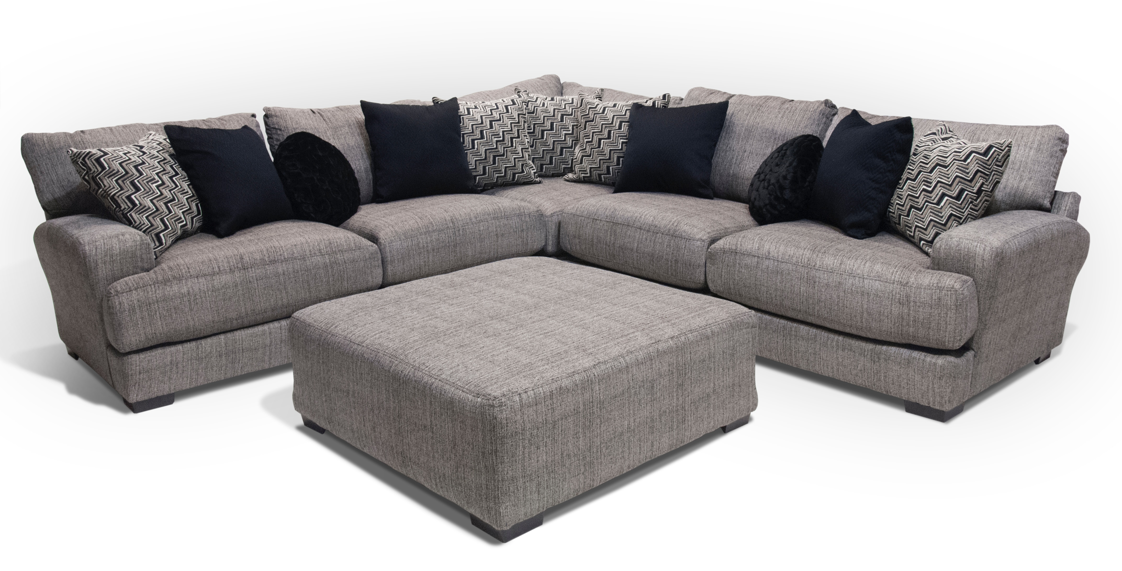 Aaron Sectional With USB, Ottoman FREE
