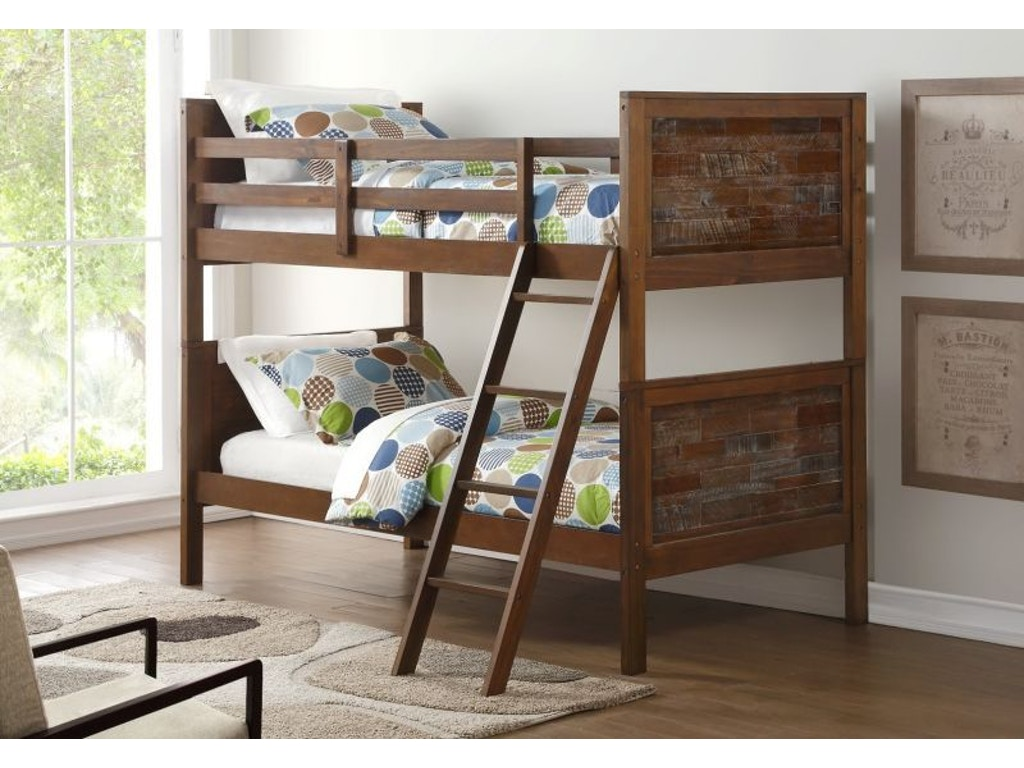 Discovery Furniture Youth Bedroom Artesian Twin Over Twin Bunkbed Mattresses Free