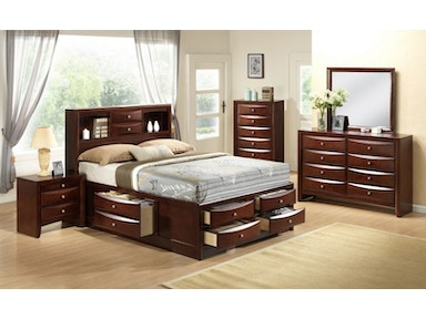 Beckett Queen Storage Bed, Two Nightstands Free