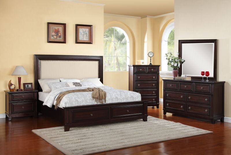 elements bedroom harwich king bed dresser mirror and nightstand