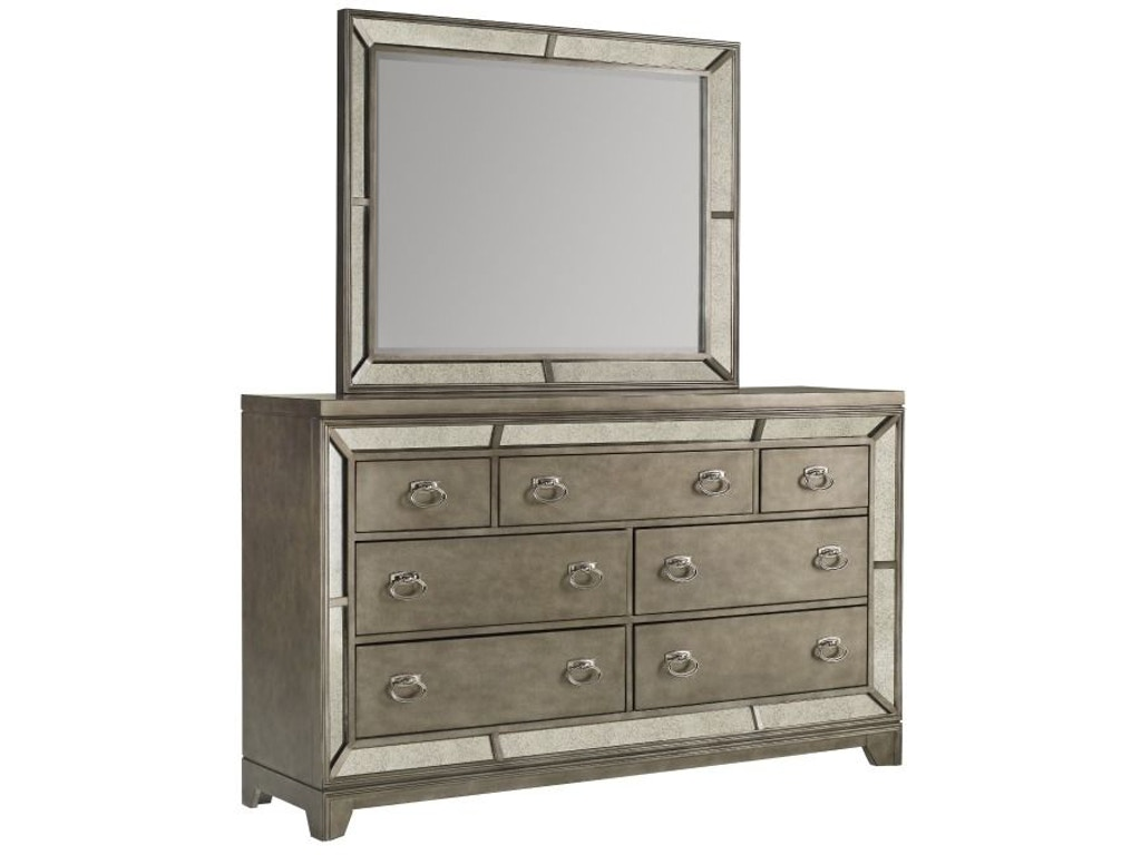 Avalon Bedroom Lenox King Bed Dresser Mirror And Nightstand