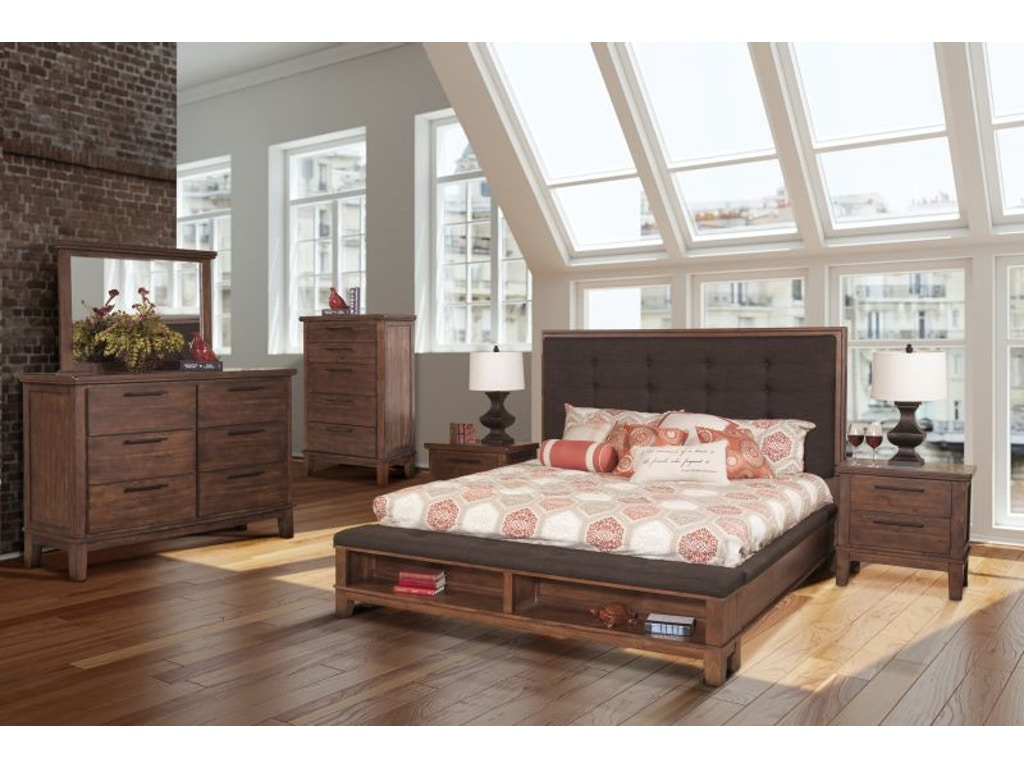 New classic bedroom cagney king bed dresser mirror and - King bedroom sets with mattress included ...