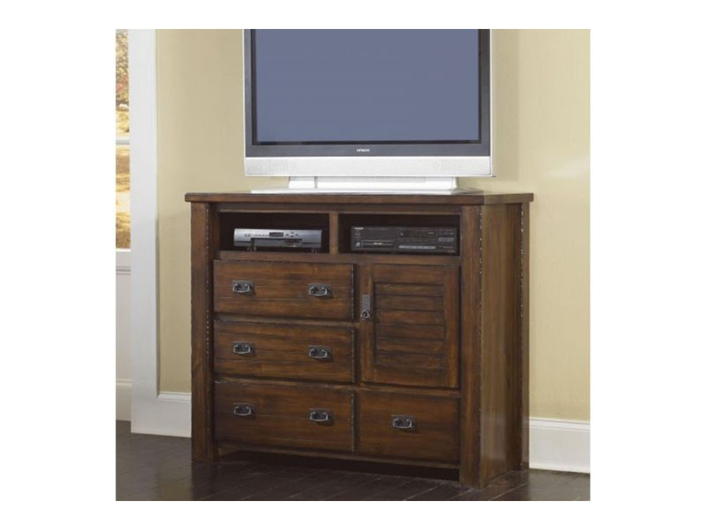 progressive bedroom trestlewood media chest