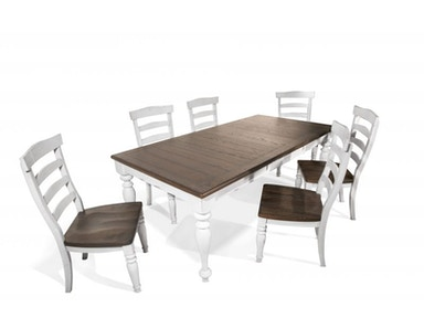 Bourbon Dining Table, 4 Chairs,2 Extra Chairs FREE