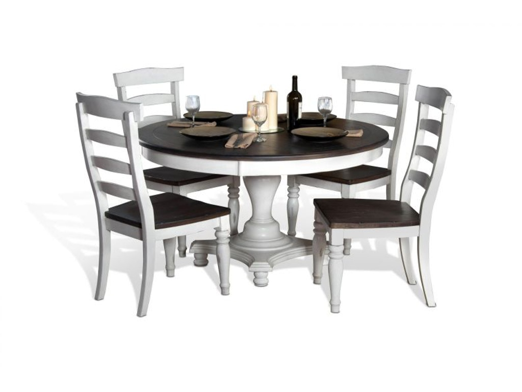 Sunny Designs Bourbon Round Dining Table And 4 Chairs Bourbonrnddin