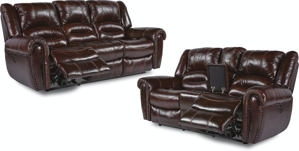 Bricktown Reclining Sofa and Loveseat