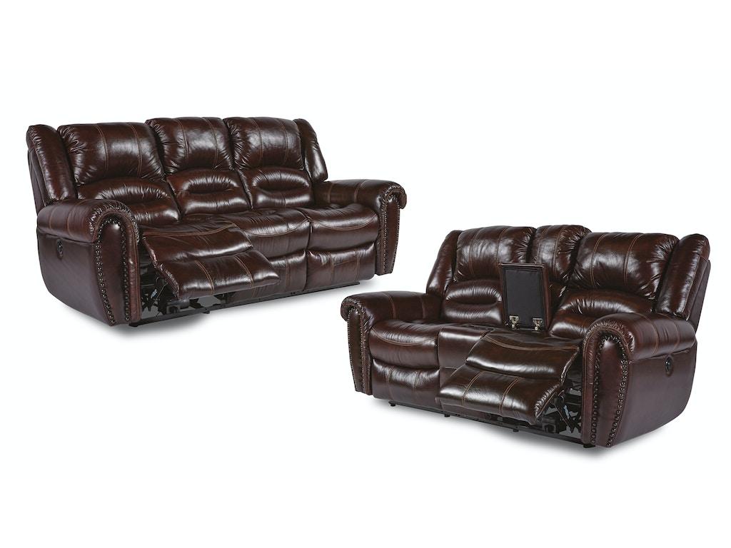 Flexsteel Living Room Bricktown Reclining Sofa And Loveseat