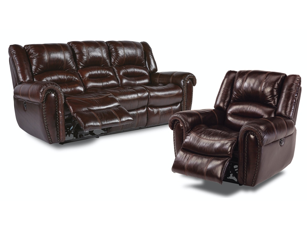 Flexsteel Living Room Bricktown Reclining Sofa And Recliner