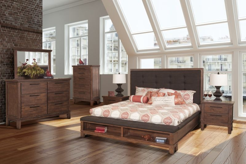 Cagney King Bed, Dresser Mirror And Nightstand