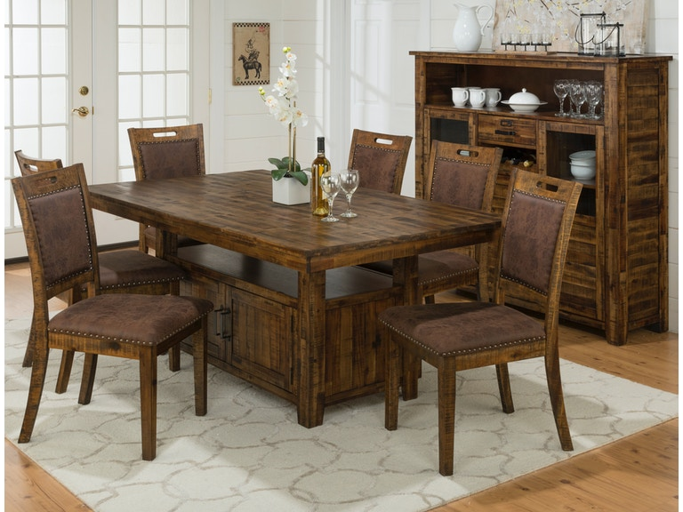 Jofran Dining Room Cannon Dining Set, 4 Chairs, & 2 Chairs FREE