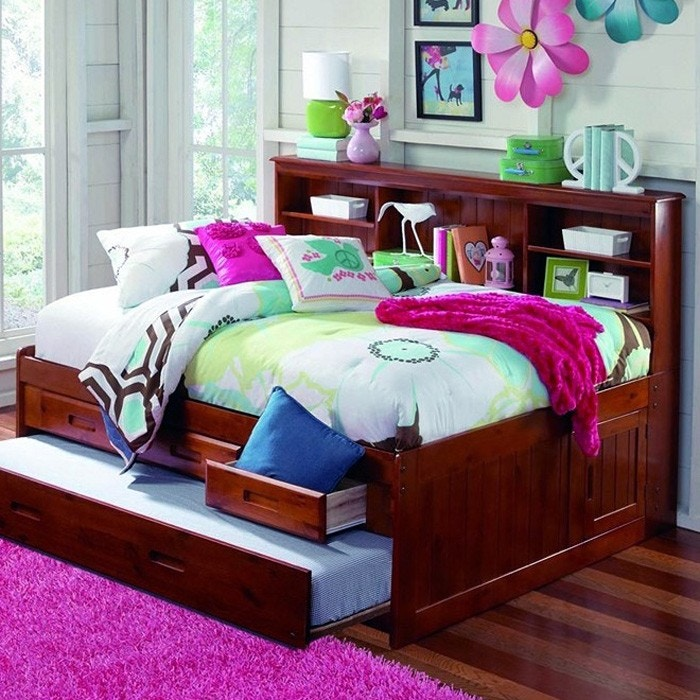 Discovery Furniture Carolina Merlot Daybed With Trundle Mattress Free