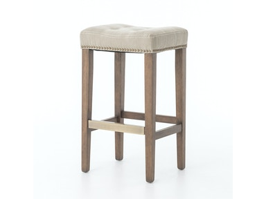 Sean Bar Stool W/Kickplate-Desert Canvas