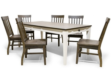 Cayla Dining Table And Six Side Chairs