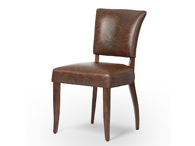 Mimi Dining Chair-Biker Tan/Antique Oak