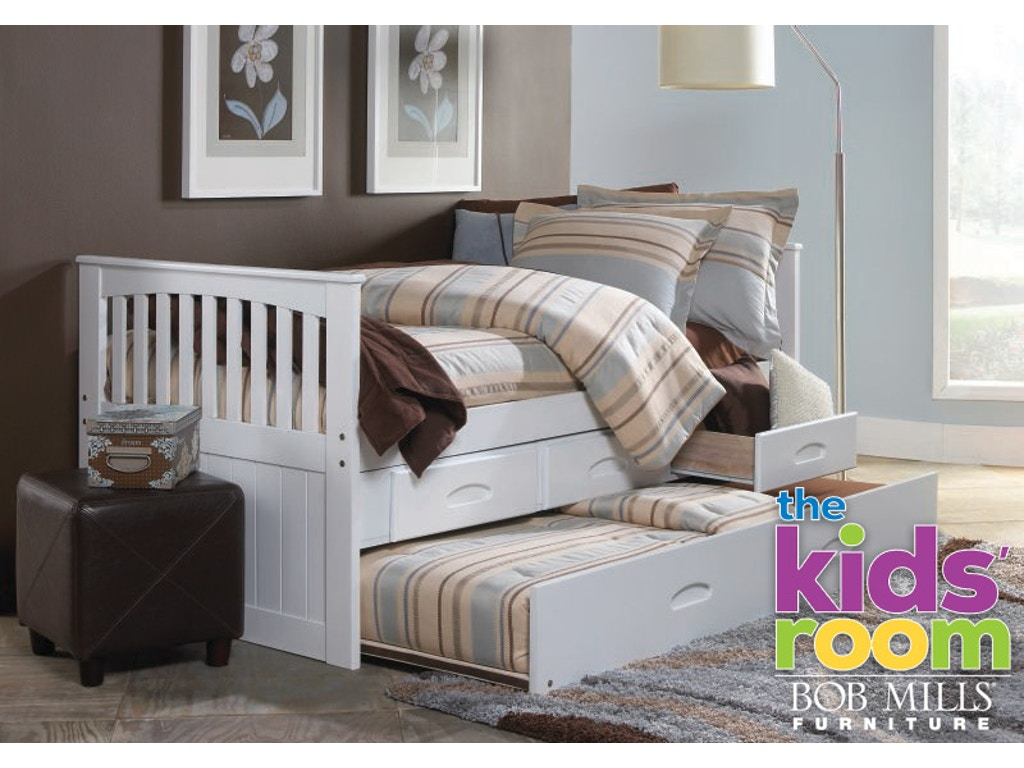 Twin trundle bed white - Discovery Furniture Chesapeake White Twin Trundle Bed 1 Mattress Free