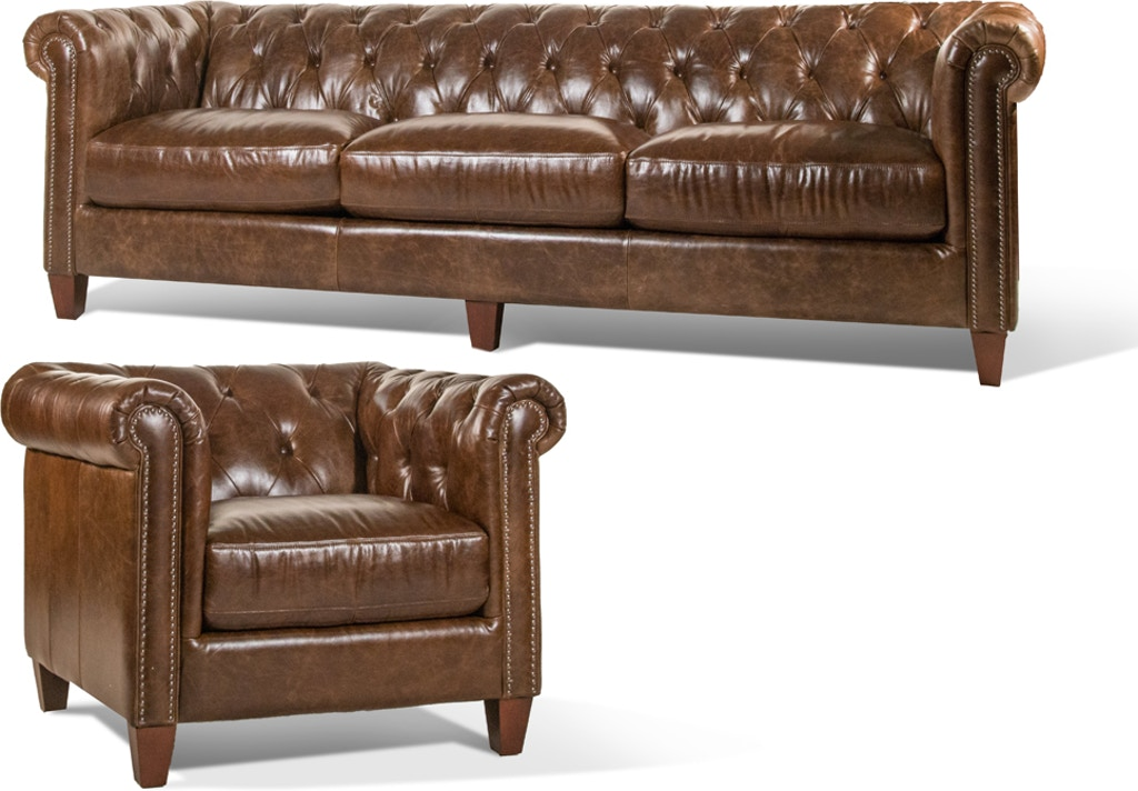 Remarkable Cigar Leather Sofa And Chair Inzonedesignstudio Interior Chair Design Inzonedesignstudiocom