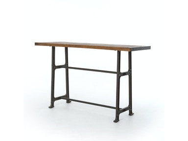 Alistair Pub Table-Blch Oak/Vint Mid Gry