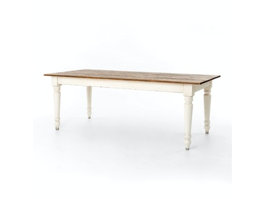 Charlie Dining Table 87-Bleach Pine/Fow